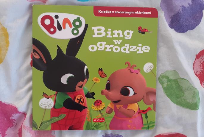 Bing w ogrodzie. Książeczka z otwieranymi okienkami – Emma Drage